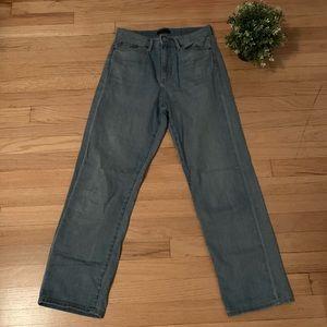 Uniqlo light blue mom jeans high waisted 26